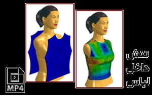 مدل سازی پارچه و لباس برای محاسبه فشار تماسی ناشی از آن روی سطح مانکن