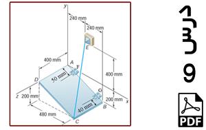 تحلیل استاتیکی ورق نگه داشته شده توسط دو لولا و یک کابل-PDF