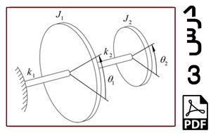 محاسبه فرکانسهای طبیعی و شکل مودهای سیستم دو درجه آزادی شامل دیسک و فنر پیچشی-PDF