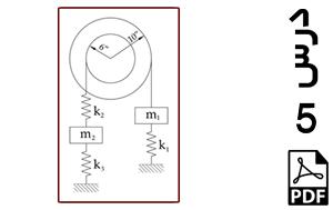 محاسبه فرکانس های طبیعی و شکل مودهای سیستم دو درجه آزادی دارای قرقره با دو شعاع مختلف-PDF