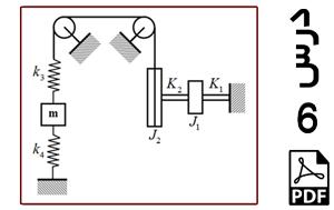 محاسبه فرکانس های طبیعی و شکل مودهای سیستم سه درجه آزادی شامل دیسک و جرم متمرکز-PDF