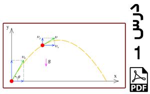 محاسبه سرعت ها و جابجایی های پرتابه در صفحه دو بعدی-PDF