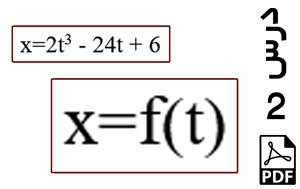 محاسبه سرعت و شتاب ذره متحرک در یک بعد-PDF