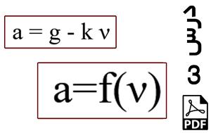 محاسبه جابجایی و سرعت ذره دارای شتاب وابسته به سرعت-PDF