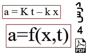 محاسبه جابجایی و سرعت ذره دارای شتاب وابسته به مکان و زمان-PDF