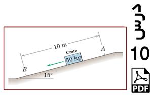 محاسبه سرعت لحظه ای جعبه لغزان روی سطح شیبدار دارای اصطکاک-PDF