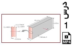 محاسبه شار حرارتی و نرخ حرارت عبوری از دیواره کوره (یک بعدی)-MP4