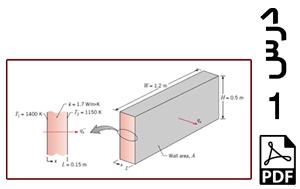 محاسبه شار حرارتی و نرخ حرارت عبوری از دیواره کوره (یک بعدی)-PDF