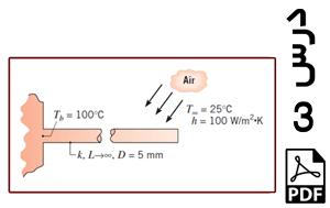 محاسبه توزیع دما و نرخ از دست دادن حرارت در یک پره (دو بعدی)-PDF