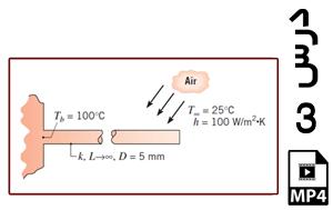 محاسبه توزیع دما و نرخ از دست دادن حرارت در یک پره (دو بعدی)-MP4