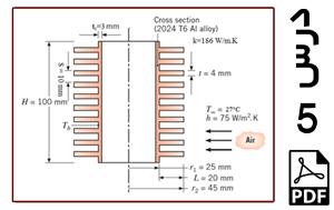محاسبه میزان کاهش دما در سیلندر یک موتورسیکلت با بکار بردن پره در آن-PDF