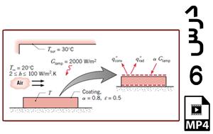 محاسبه دمای پخت روکش یک ورق بر حسب ضرایب انتقال حرارت جابجایی مختلف-MP4