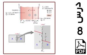 رسم توزیع دما در راستای ضخامت دو دیوار در تماس با هم (مقاومت حرارتی در سطوح تماس)-PDF