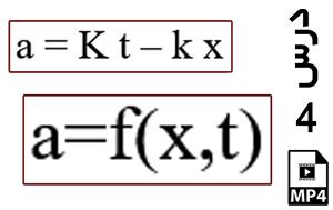 محاسبه جابجایی و سرعت ذره دارای شتاب وابسته به مکان و زمان-MP4