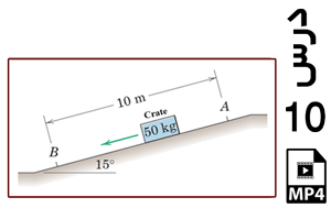 محاسبه سرعت لحظه ای جعبه لغزان روی سطح شیبدار دارای اصطکاک-MP4