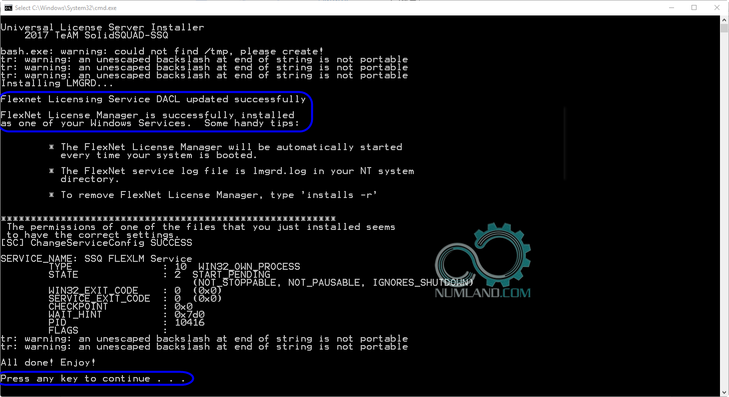نصب درست Flexnet Licensing Service
