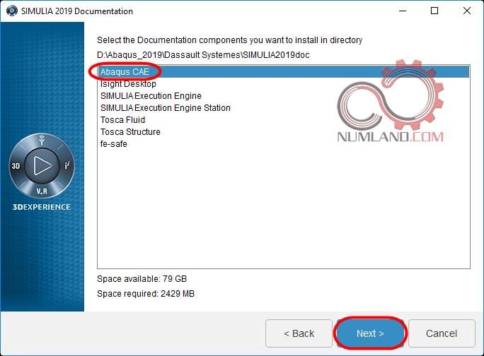 قدم 17 نصب آباکوس 2019 - انتخاب گزینه دلخواه برای نصب Documentation مربوطه