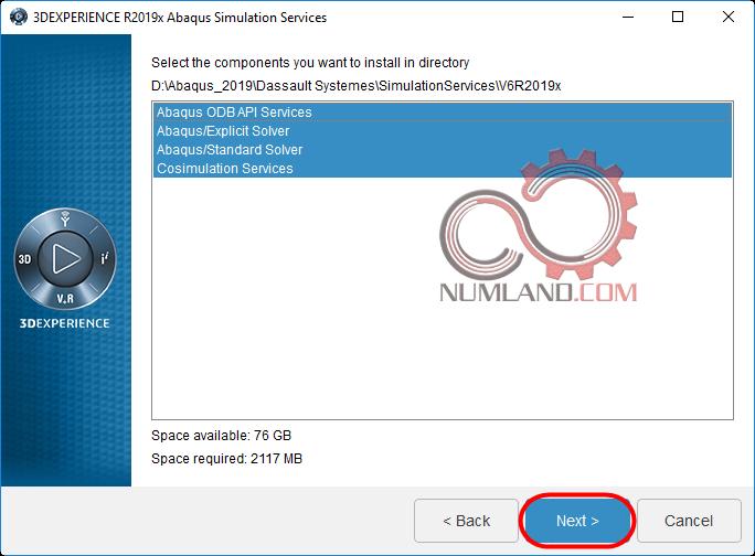 قدم 26 نصب آباکوس 2019 - گزینه های قابل نصب برای Abaqus Simulation Services