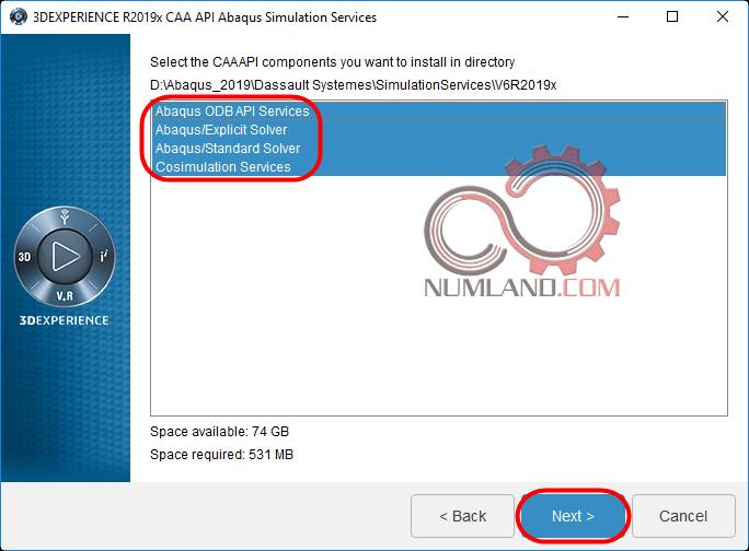 قدم 30 نصب آباکوس 2019 - گزینه های قابل نصب برای Abaqus Simulation Services CAAAPI