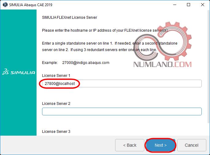 قدم 38 نصب آباکوس 2019 - انتخاب License Server