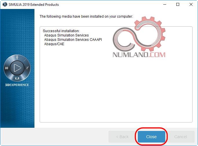 اتمام نصب Abaqus Simulation Services، CAAAPI و Abaqus/CAE