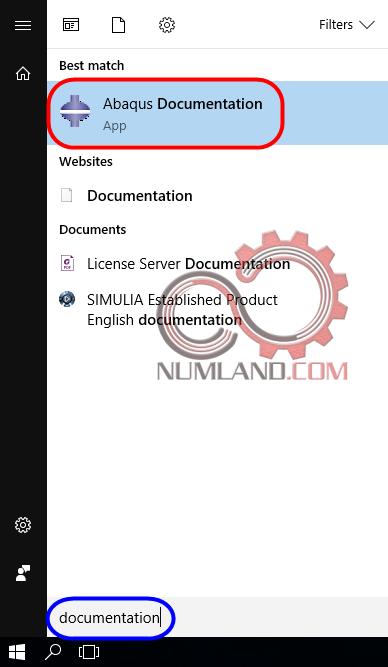 باز کردن Abaqus Documentation از Start