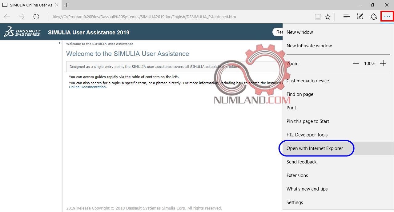 درخواست باز شدن Abaqus Documentation در Internet Explorer