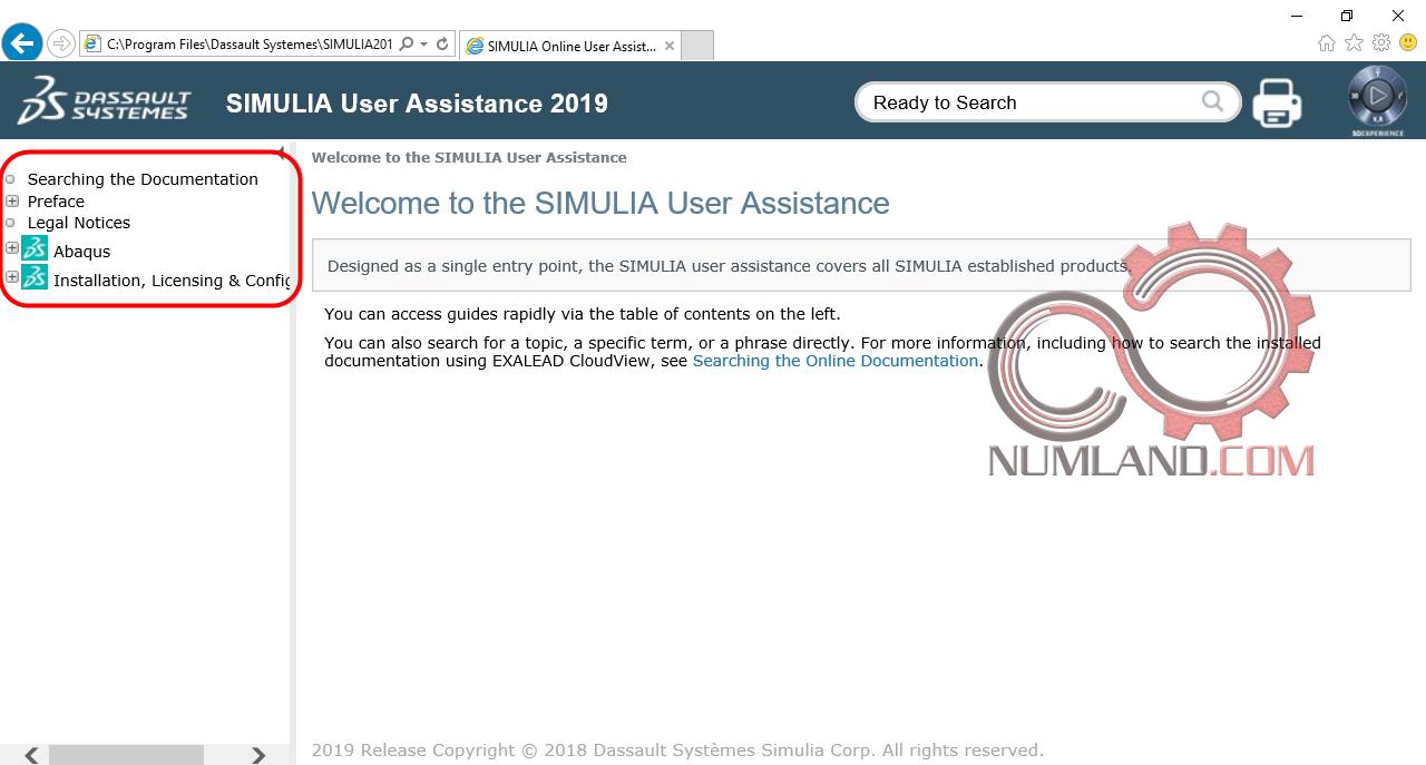 قدم 61 نصب آباکوس 2019 - باز شدن کامل Abaqus Documentation در Internet Explorer