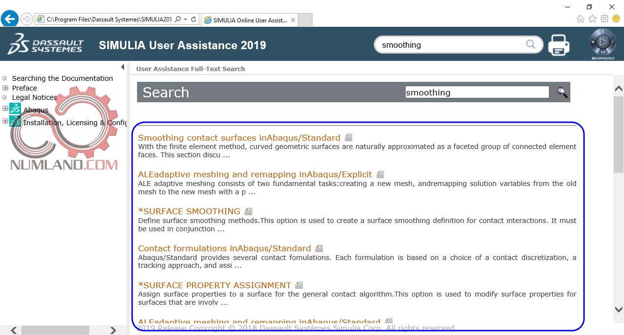 قدم 72 نصب آباکوس 2019 - اجرای کامل Abaqus Documentation با قابلیت جستجو