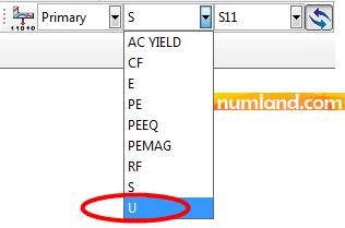 انتخاب گزینه U در جعبه ابزار Field Output برای خروجی گرفتن جابجایی ها