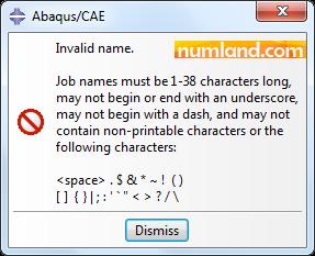 پیغام خطای مربوط به نامگذاری اشتباه Job