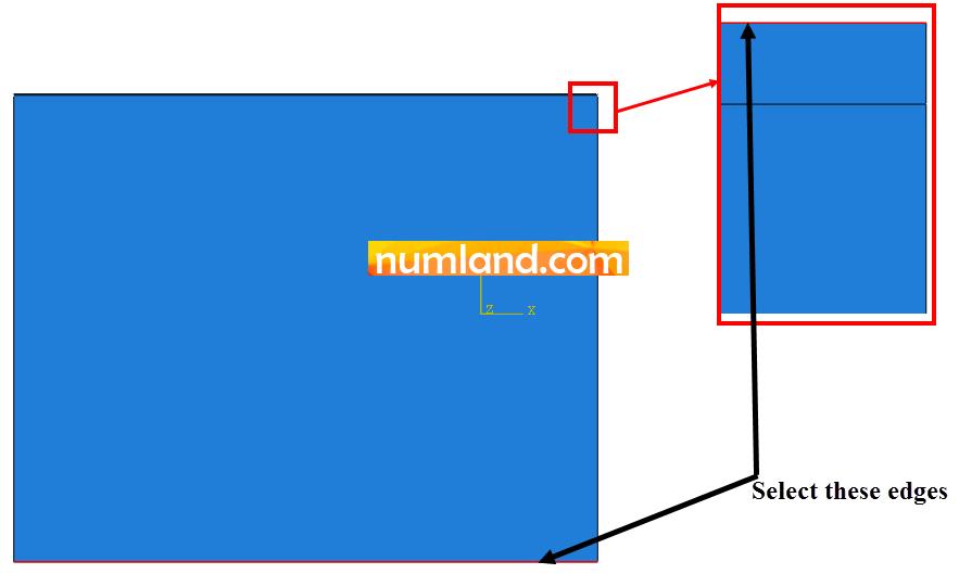 دو لبه مورد نظر برای اعمال انتقال حرارت جابجایی