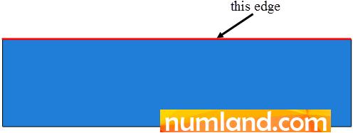 لبه مورد نظر برای اعمال انتقال حرارت جابجایی