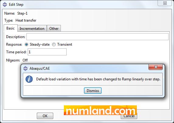 تغییر نحوه اعمال بارگذاری از Instantaneous به Ramp