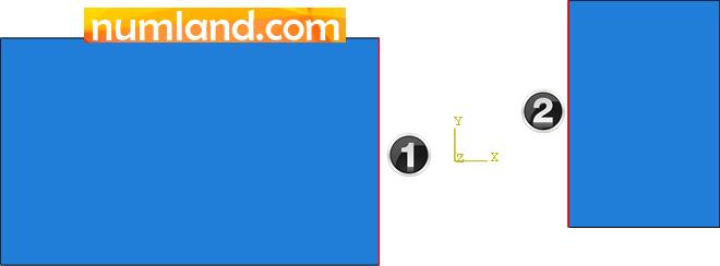 لبه های مورد نیاز برای تعریف تماس دو قطعه