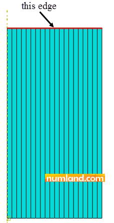 لبه مورد نظر برای استخراج شماره گره ها