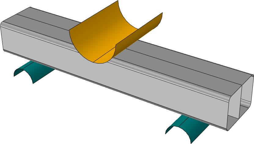 خمش سه نقطه ای پروفیل آلومینیومی