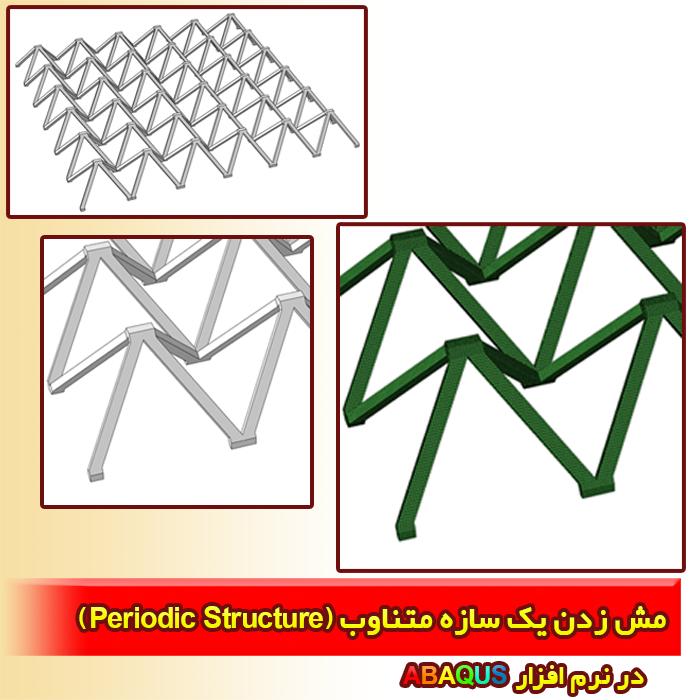 مش زدن یک سازه متناوب (Periodic Structure)