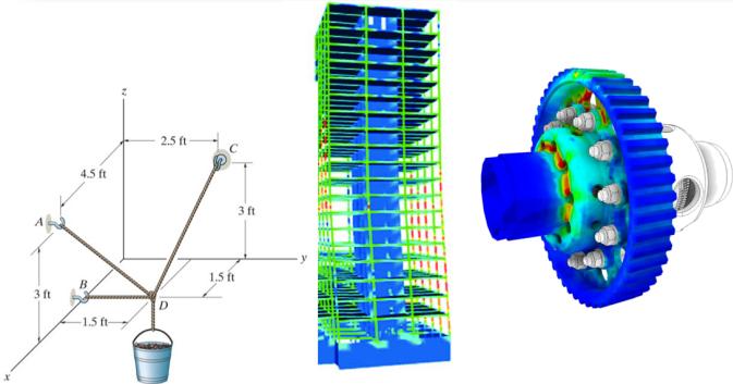 مثالهایی از مسائلی که در فضای سه بعدی مدلسازی می شوند